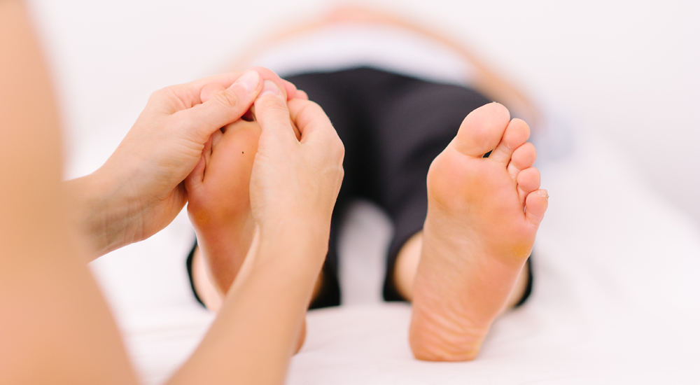 Reflexology- an alternative therapy to help restore the body's natural equilibrium & encourage healing
